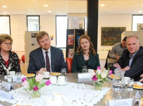 Onze collega Rob Niessen in gesprek met koning Willem-Alexander